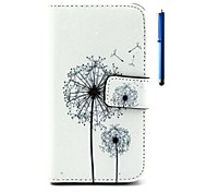 4.7 Inch Dandelion Pattern PU Wallet Leather Case and Pen for LG L90 D405