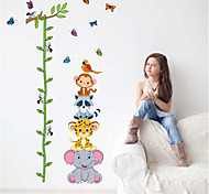 Cartoon Animals PVC Height Wall Stickers Wall Art Decals