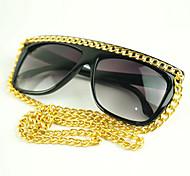 100%UV400 Women's Wayfarer Fahsion Chain Sunglasses