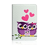 Cartoon Owl PU Leather Full Body Case with Stand for The new iPad/iPad 4