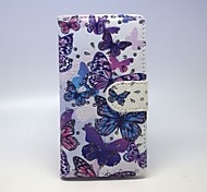 A Group Of Butterflies Patterns PU Leather Full Body Case with Stand and Card Slot forSamsung Galaxy A5