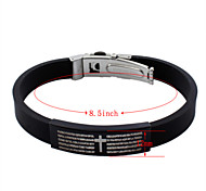 Titanium Steel Bracelet PU Leather Women's Silver Bracelets Daily/Casual 1pc