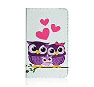 Pink Owl Print PU Leather Stand Wallet Folio Case For Samsung Tab 3 Lite T110 T111