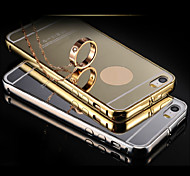 Compatible Solid Color/Metallic//Novelty Bumper Frame Plating Metal Frame Plating PC Back Cover for Phone 5S/5