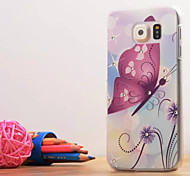 A Beautiful Butterfly Pattern Relievo Hard Case with Diamond for Samsung Galaxy S6