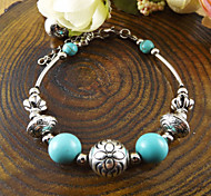 Europe And The American Bohemia Style Alloy Plum Ball Turquoise Bracelet