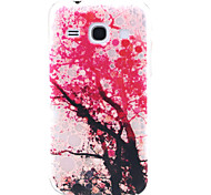 Pink Tree Pattern TPU Relief Back Cover Case for Samsung Galaxy Trend 3 G3502