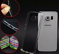 For Samsung Galaxy Case Transparent Case Back Cover Case Solid Color PC Samsung S6 edge