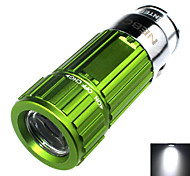 Zhishunjia Rechargeable 1-Mode 1x LED Mini Car Charger LED Flashlight (60lm , 4xCR2032 , Green)
