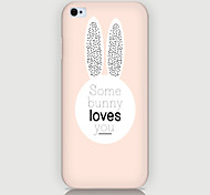 Rabbit Head Pattern Phone Back Case Cover for iPhone5C