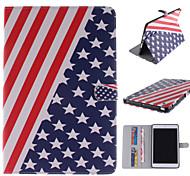 la bandiera disegno di cuoio dell'unità di elaborazione caso corpo americano con stand e carta slot per Mini iPad 1/2/3