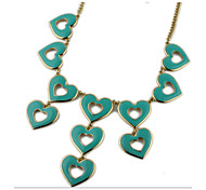 Fashion Green Heart Necklaces 1pc