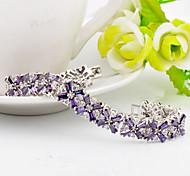 High Quality Fashion Image Of Women Platinum 10 KT M Type Zircon Bracelets