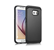 ABS Green Plastic Armor DROP Phone Protective Shell for Samsung GALAXY S6 Edge