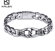 Kalen New Design Jewelry Titanium Stainless Steel Men's Bracelet
