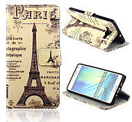 Tower Pattern PU Leather Case with Stand for Samsung Galaxy A5