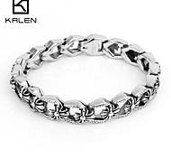 Kalen 2015 Men's Jewelry Fashion Stainless Steel Professional Designs Snap Bracelet