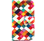 Rainbow Pattern PU Leather Case with Magnetic Snap and Card Slot for Samsung S3 Mini I8190N