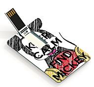 64GB mantener la calma y encontrar la tarjeta de diseño unidad flash USB mickey
