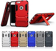 Para Funda iPhone 7 / Funda iPhone 7 Plus / Funda iPhone 6 / Funda iPhone 6 Plus / Funda iPhone 5 Antigolpes / con Soporte / Brazalate