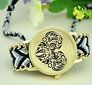 Fashion Bohemian Style Weave Exquisite Handmade Heart-shaped Love Watches