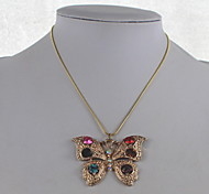 Fashion Crystal/Alloy Necklace Multicolor Butterfly Pendant Necklaces Daily/Casual