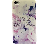 das Leben ist schön Blumenmuster ultradünnen tpu weichen Kasten für iphone 4 / 4s