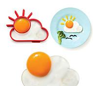 Вс облако форма яйцо кольцо для завтрака, яйцо плесень инструменты для приготовления пищи, силикон, L10 * W8 * h1.2cm