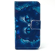 Retro Cat Cartoon Pattern PU Leather Full Body Case with Card Slot for iPhone 4/4S