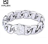 kalen guangzhou joyas más nuevo sol diseño forma pulsera grabada
