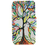 For HTC Case with Stand / with Windows / Flip Case Full Body Case Tree Hard PU Leather HTC