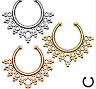 Fashion Stainless Steel  Hollow Out Nose Ring Body Jewelry Piercing