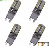 Lampadine a pannocchia 64 SMD 3014 SENCART T G9 4 W Decorativo 360-380 LM Bianco caldo / Luce fredda 4 pezzi AC 220-240 V