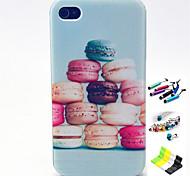 Funda Trasera - Gráficas/Dibujos/Diseño Especial - para iPhone 4/4S/iPhone 4 ( Multicolor , TPU )