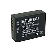 1260mAh NP-W126 Camera Battery Pack for FUJIFLIM FinePix HS30 FinePix HS30EXR FinePix HS33EXR X-E1 X-E2 X-M1