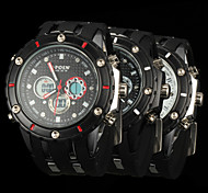 New fashion men's business double movement movement waterproof anti fall large dial watches LCD BWL592
