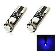 t10 1w 100lm 3-SMD 5050 ha condotto la luce blu di decodifica della lampada di coda (12v / pair)