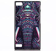 patrón elefante SPIDER® magia caso duro plástico de protección cubierta posterior con protector de pantalla para blackberry z3
