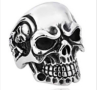 Stainless Steel Rings For Man Big Tripple Skull Ring Punk Biker Jewelry