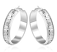 Women's Fashionable Round 925 Silver Plated Earrings