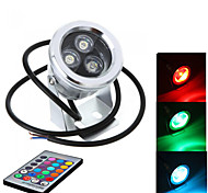 Silver IP68 9W Waterproof Outdoor RGB Light LED Underwater Light (AC85-265V)