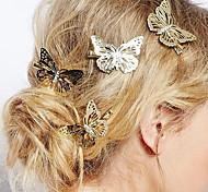 european style monili bello copricapo fragile sposa farfalla tornante (singolo)