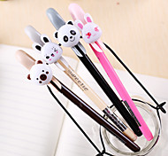 Cute Animal Pattern Black Ink Gel Pen(Random Colors)