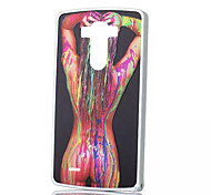 Sexy Lady Color Pattern Siliver Metal Frame Plastic Back Cover Hard Case for LG G3