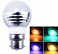 1 pcs ding yao B22 3W 1X SMD 5730 100-400LM RGB Remote-Controlled Globe Bulbs AC 85-265V