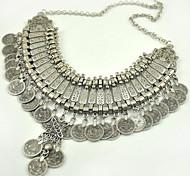 Fashion Folk Style Carved Necklace