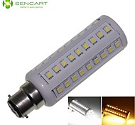B22 12W 66x5050SMD 1200LM 3500K 6000K  Warm White/Cool White Light LED Corn Bulb AC85-265V