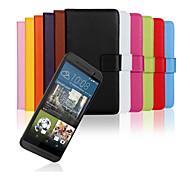 einfarbig stilvolle echte PU-Leder Flip-Cover Brieftasche-Kartensteckplatz Fall mit Stand für htc eins m9 (farblich sortiert)