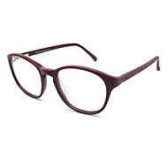[Free Lenses] Acetate Round Full-Rim Retro Prescription Eyeglasses