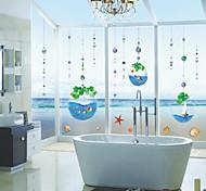 Fantastic Sea World in Water Drop PVC Wall Stickers Wall Art Decals